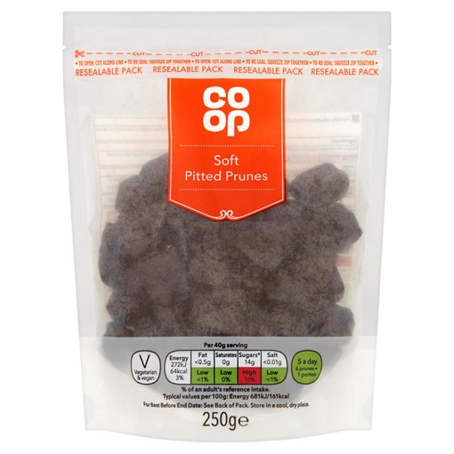 Picture of Co Op Soft Pitted Prunes 250g