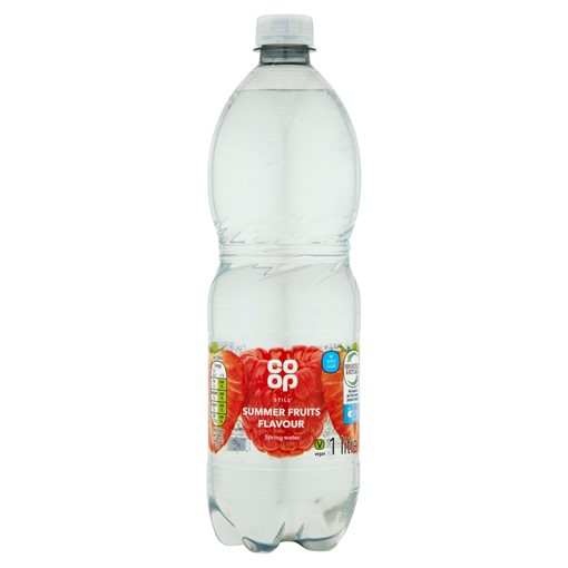 Picture of Co-op Summer Fruits Flavoured Still Spring Water Drink No Added Sugar with Sweetener 1 Litre