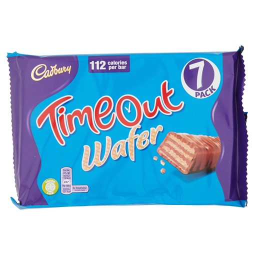Picture of Cadbury Timeout Wafer 7 Pack 148.4g