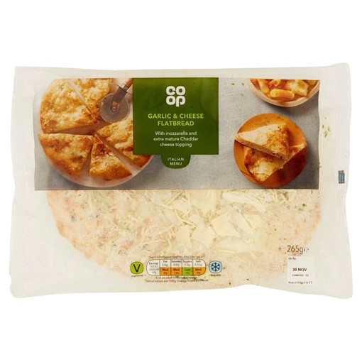 Picture of Co-op Garlic & Cheese Flatbread 265g
