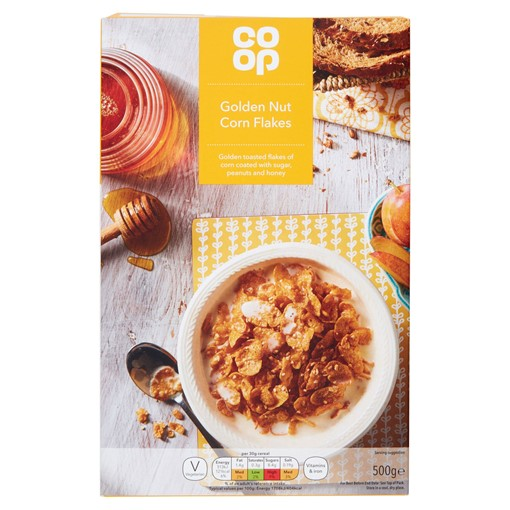 Picture of Co-op Golden Nut Corn Flakes 500g