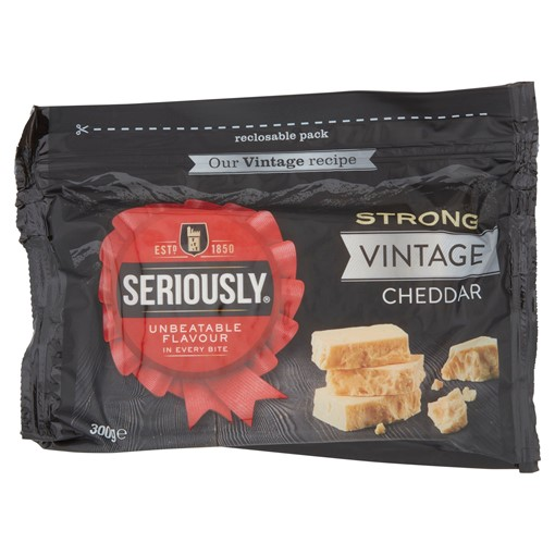 Picture of Seriously Strong Vintage Cheddar Cheese 300g