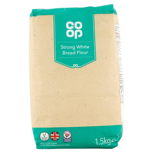 Picture of Co Op Strong White Bread Flour 1.5kg
