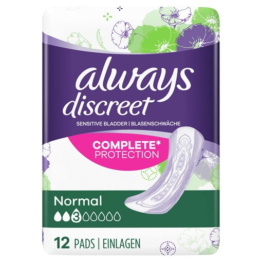 Picture of Always Discreet Incontinence Pads Normal For Sensitive Bladder x 12