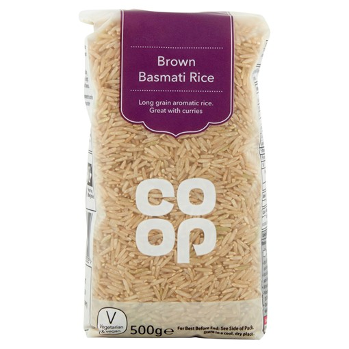 Picture of Co Op Brown Basmati Rice 500g