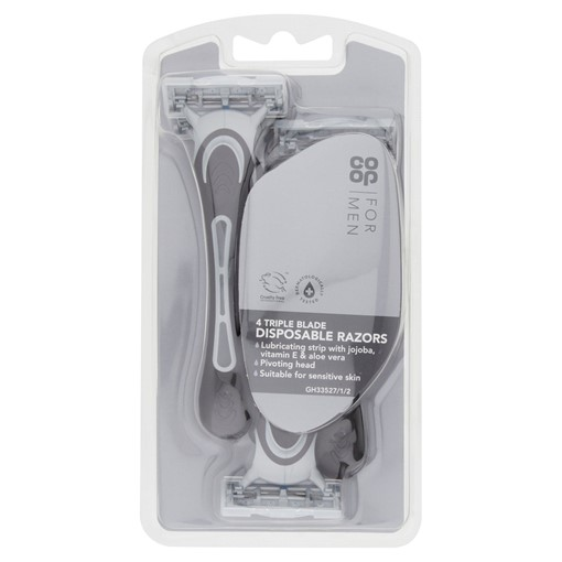 Picture of Co-op For Men 4 Triple Blade Disposable Razors