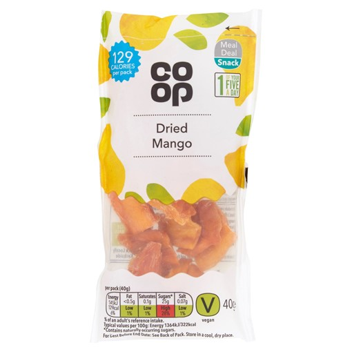 Picture of Co-op Dried Mango 40g