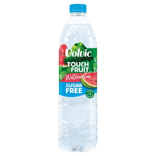 Picture of Volvic Touch of Fruit Sugar Free Watermelon Natural Flavoured Water 1.5L