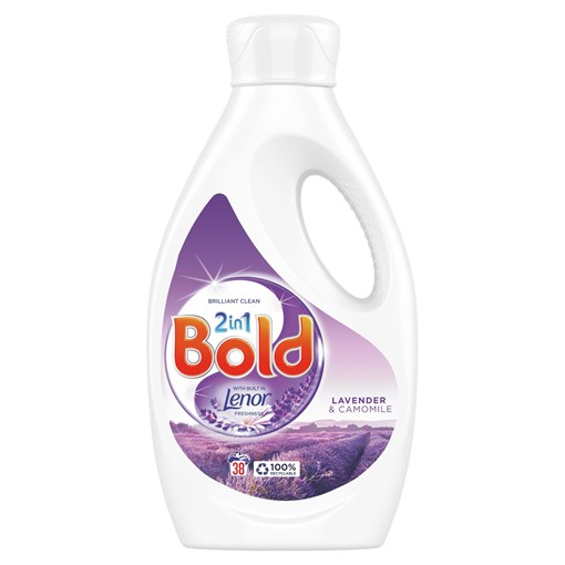 Picture of Bold 2in1 Washing Liquid Lavender & Camomile 1.33L, 38 Washes