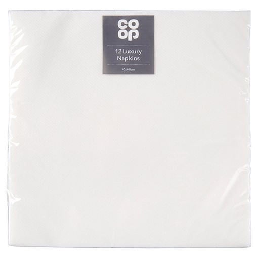 Picture of Co Op 12 Luxury Napkins 40 x 40cm