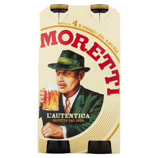 Picture of Birra Moretti Lager Beer 4 x 330ml Bottles