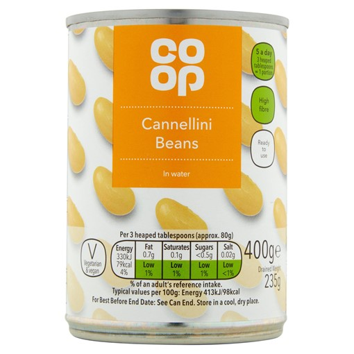 Picture of Co-op Cannellini Beans in Water 400g