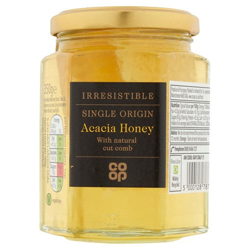 Picture of Co-op Irresistible Single Origin Acacia Honey with Natural Cut Comb 350g