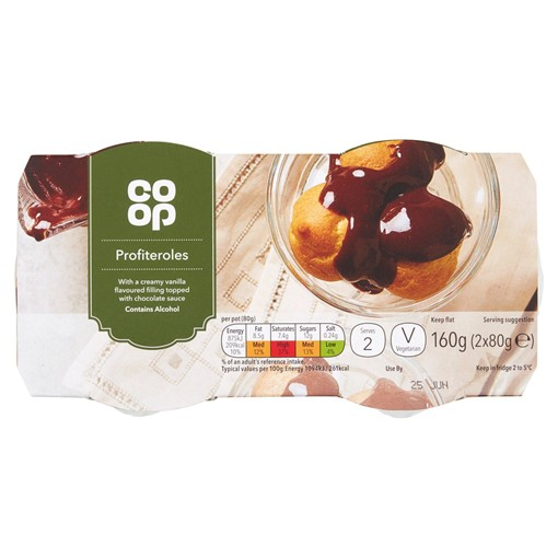 Picture of Co-op Profiteroles 2 x 80g (160g)
