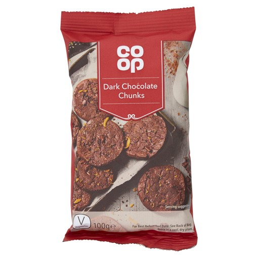 Picture of Co-op Dark Chocolate Chunks 100g