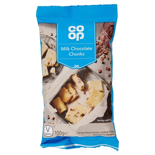 Picture of Co-op Milk Chocolate Chunks 100g