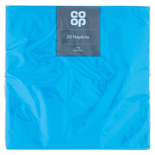 Picture of Co-op 20 Napkins Blue