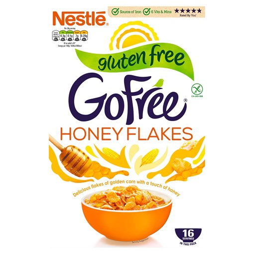 Picture of Gofree Gluten Free Honey Flakes 500g