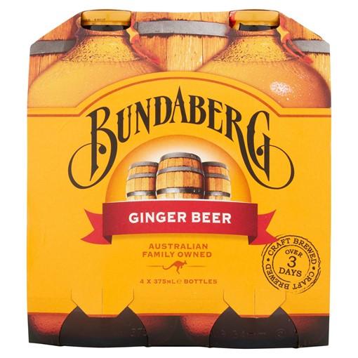 Picture of Bundaberg Ginger Beer 4 x 375ml