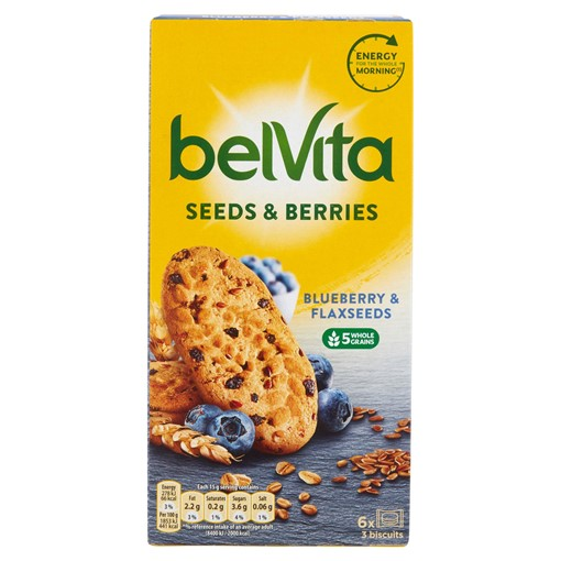 Picture of Belvita Breakfast Biscuits Blueberry & Flaxseeds 6 Pack 270g