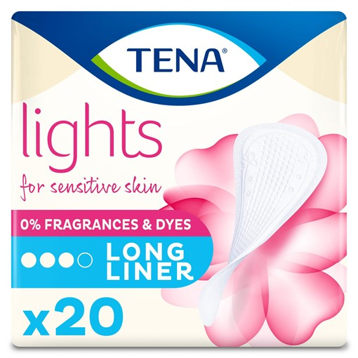 Picture of TENA Lights Long Incontinence Liners 20 pack