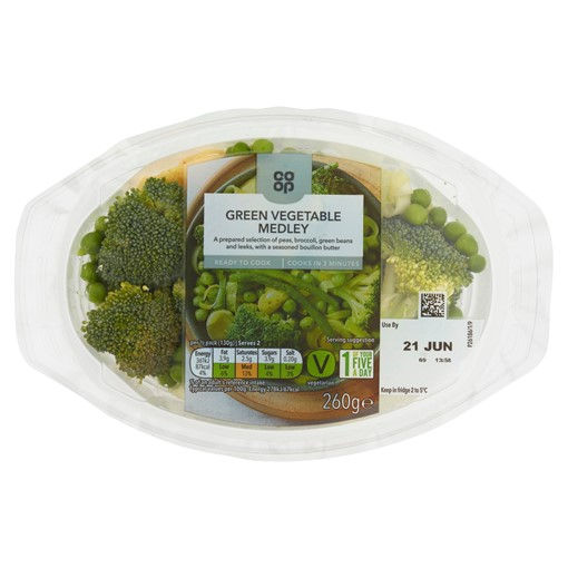 Picture of Co-op Green Vegetable Medley 260g