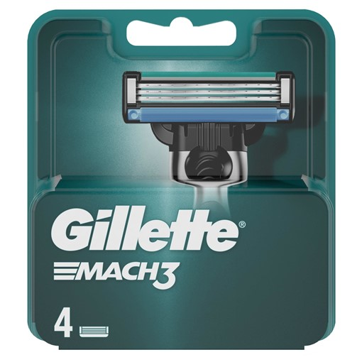 Picture of Gillette Mach3 Razor Blades For Men, 4 Refills