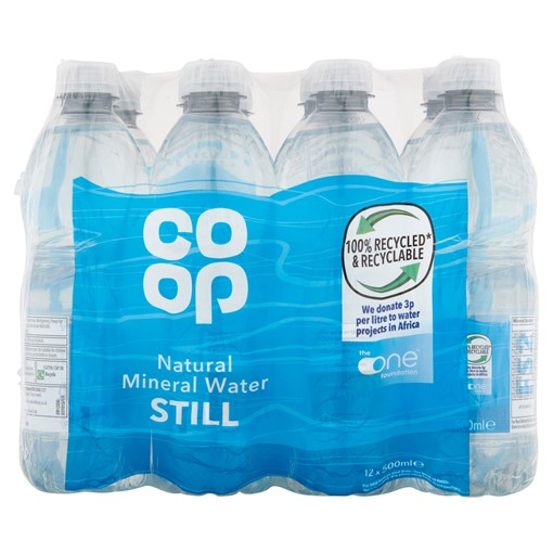 Picture of Co-op Natural Mineral Water Still 12 x 500ml