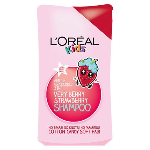 Picture of L'Oreal Kids Extra Gentle 2-in-1 Very Berry Strawberry Shampoo 250ml
