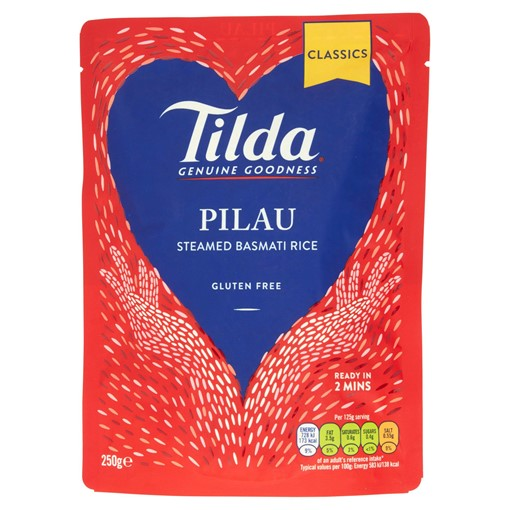 Picture of Tilda Microwave Pilau Basmati Rice 250g