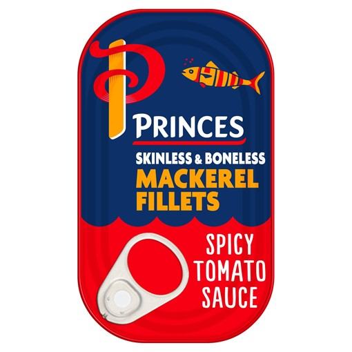 Picture of Princes Mackerel Fillets in a Spicy Tomato Sauce 125g