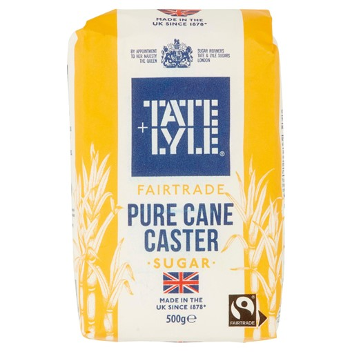Picture of Tate & Lyle Fairtrade Pure Cane Caster Sugar 500g