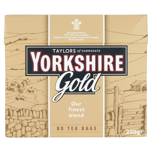 Picture of Taylors of Harrogate Yorkshire Gold 80 Tea Bags 250g