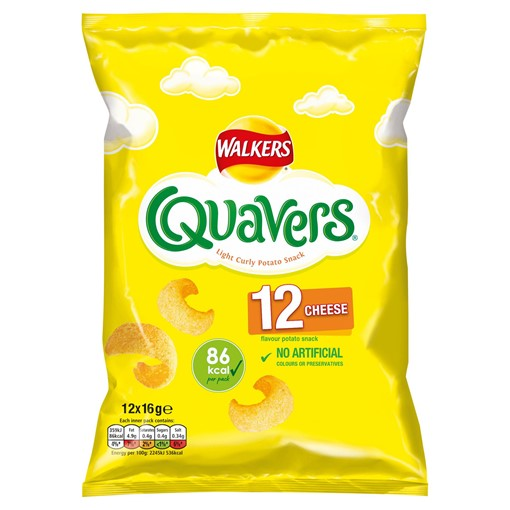 Picture of Walkers Quavers Cheese Snacks 12x16g