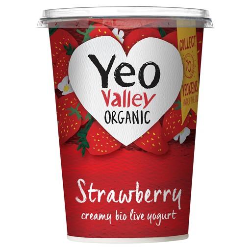 Picture of Yeo Valley Organic Strawberry Creamy Bio Live Yogurt 450g