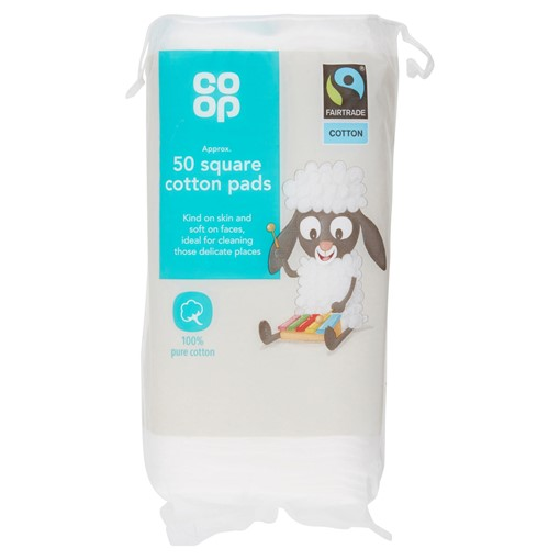 Picture of Co-op Fairtrade 50 Square Cotton Pads