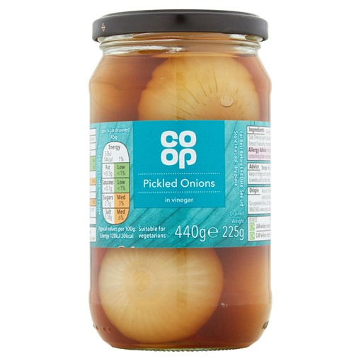 Picture of Co-op Pickled Onions in Vinegar 440g