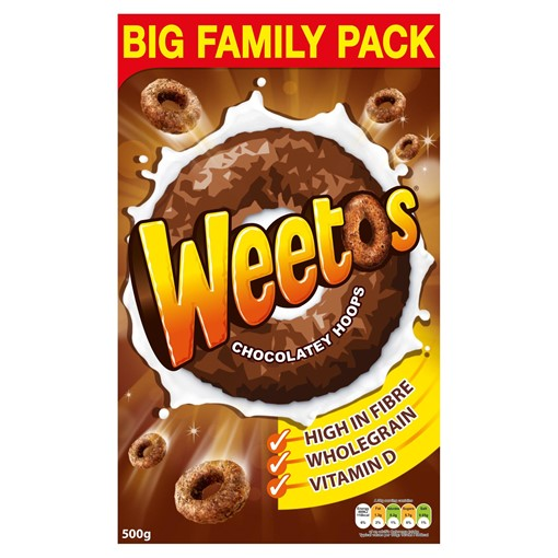 Picture of Weetos Chocolate Hoops Cereal 500g