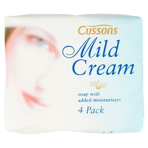 Picture of Cussons Mild Cream Bar Soap 4 x 90g