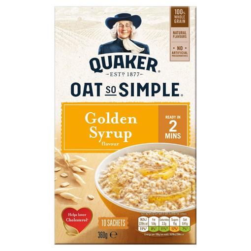 Picture of Quaker Oat So Simple Golden Syrup Porridge 10x36g