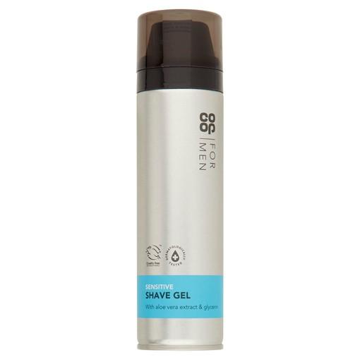 Picture of Co Op for Men Sensitive Shave Gel 200ml
