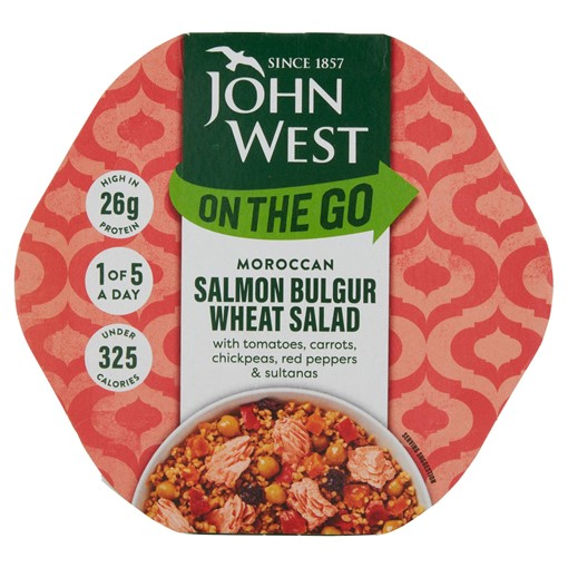 Picture of John West On The Go Moroccan Salmon Bulgur Wheat Salad 220g