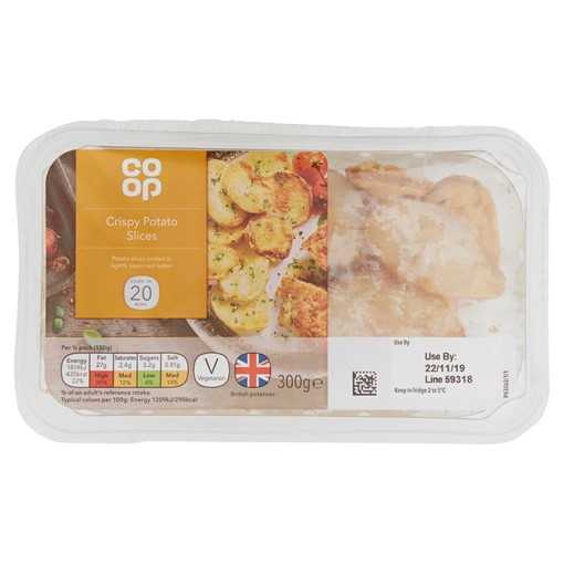 Picture of Co Op Crispy Sliced Potatoes 300g