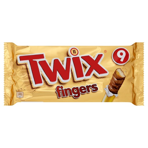 Picture of Twix Chocolate Biscuit Fingers Multipack 9 x 23g