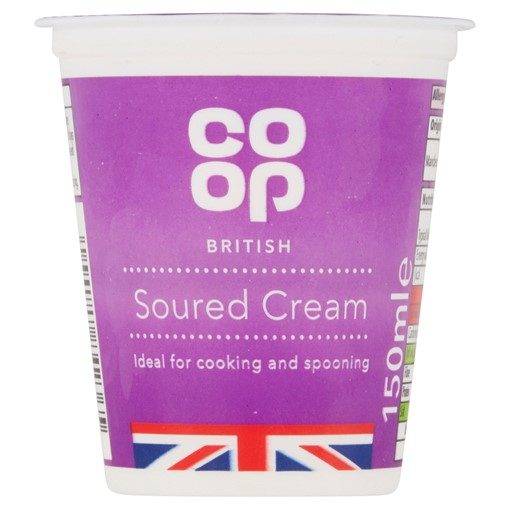 Picture of Co Op British Soured Cream 150ml
