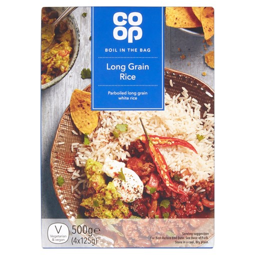 Picture of Co-op Boil in the Bag Long Grain Rice 4 x 125g (500g)