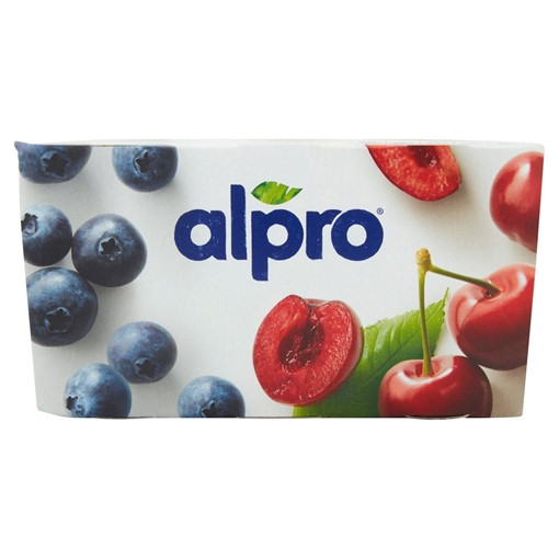 Picture of Alpro Blueberry & Cherry Yoghurt Alternative 4x125g