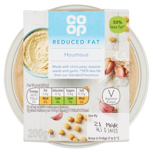Picture of Co-op Reduced Fat Houmous 200g