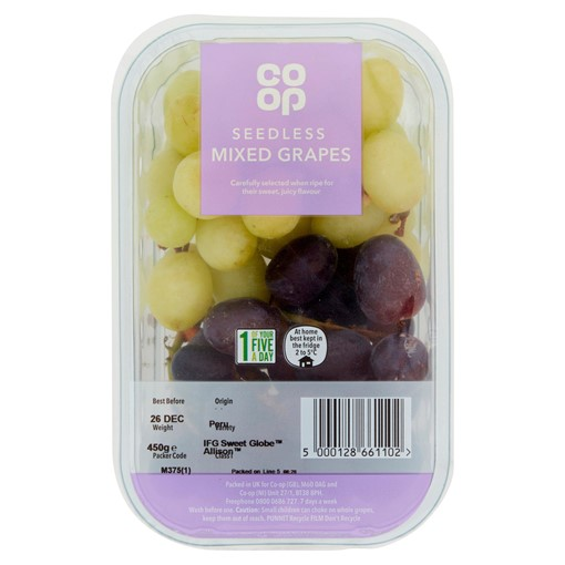 Picture of Co Op Mixed Seedless Grapes 500g