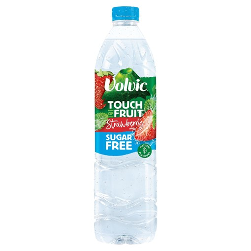 Picture of Volvic Touch of Fruit Sugar Free Strawberry Natural Flavoured Water 1.5L